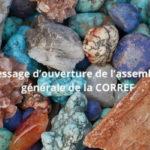 Message d'ouverture de l'assemblée générale de la CORREF